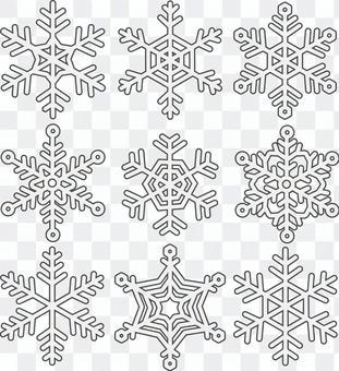 雪晶/冰晶(釣魚)