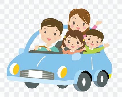 驾驶2(蓝色)与家人