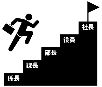 成功的樓梯跳躍象形圖