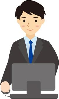 Businessman personal computer