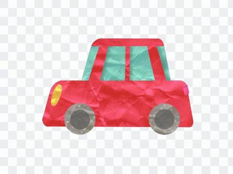 可愛的紅車