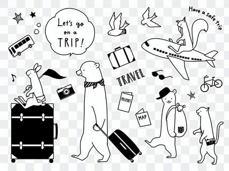 Animal travel monotone