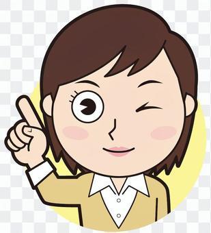 Fingering female teacher (wink)