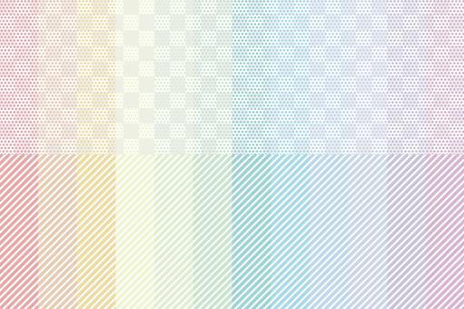 彩虹彩色細點和條紋套
