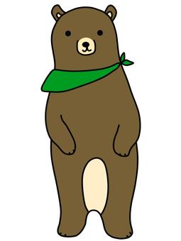 Illustration of a cute bear with a bandana
