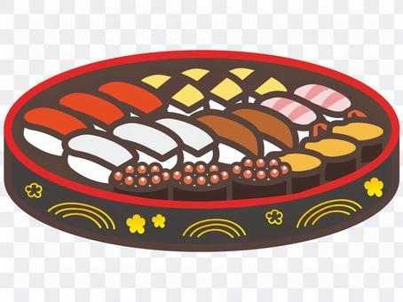 すし桶の寿司
