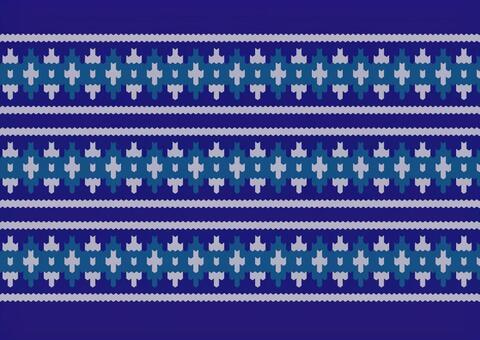 Stitch blue knit pattern