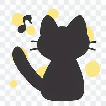黑貓(剪影)