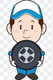 汽車修理工(輪胎交換)