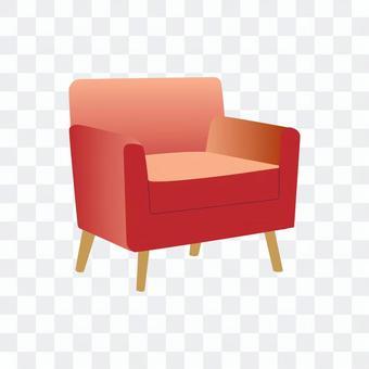 單人沙發(紅色)