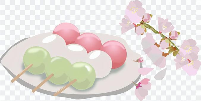 三色團子櫻花
