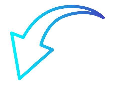 箭頭無填充漸變藍色