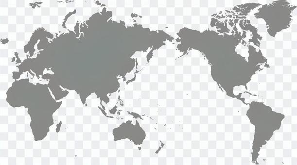 世界地圖單色