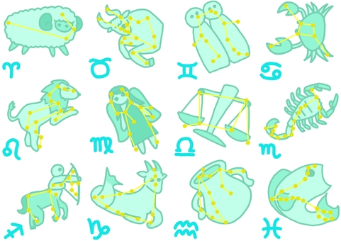 Twelve constellations series