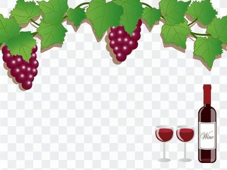 酒·玻璃·葡萄架·框架