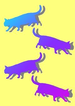 Cat multiple gradient