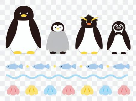 各種各樣的企鵝