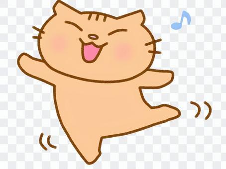 跳舞茶虎斑貓
