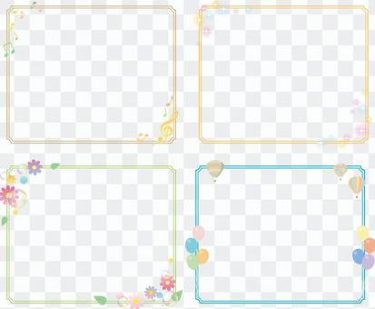 Simple decorative frame 4 types