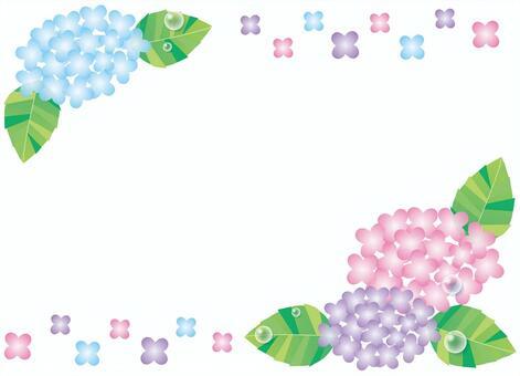 繡球花框架