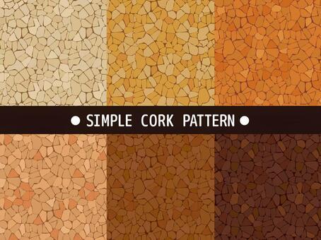 簡單的軟木圖案材料集合