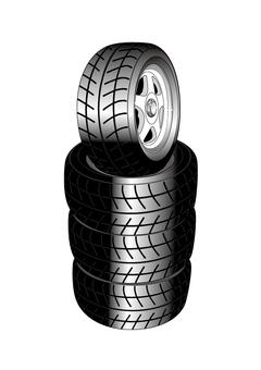 4個輪胎輪組