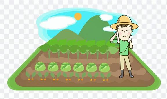 Farmhouse men and landscape landscape 2-3 Sweat
