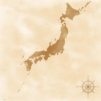 日本map_retro風格