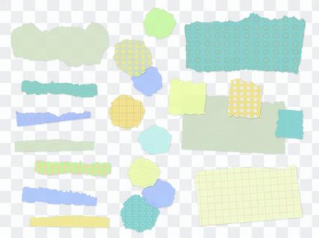 撕紙樣材料1