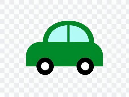 車汽車側綠色