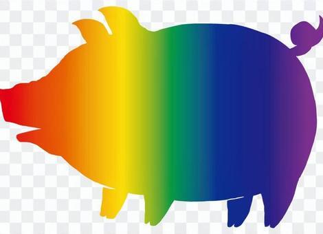 豬肉(彩虹色)1