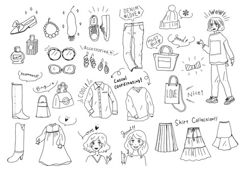 Fashionable fashion illustration