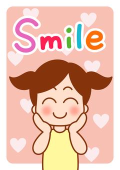 English word card Smile