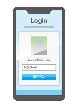 登錄屏幕智能手機