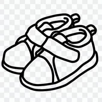 小童鞋(線條藝術)