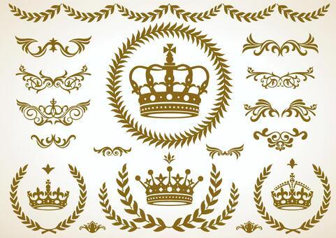 皇冠,月桂樹,裝飾套