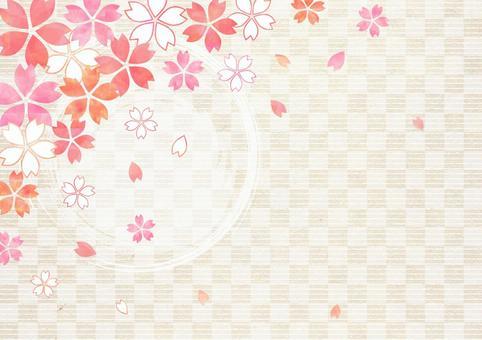 Cherry tree lattice background