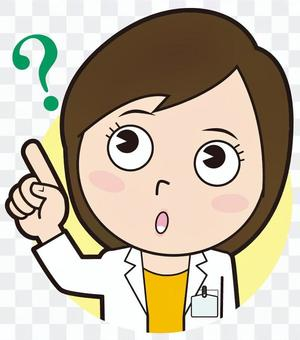 Fingering female doctor (doubt)