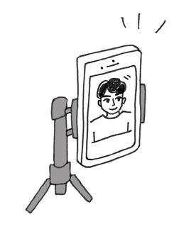 智能手機支架視頻通話