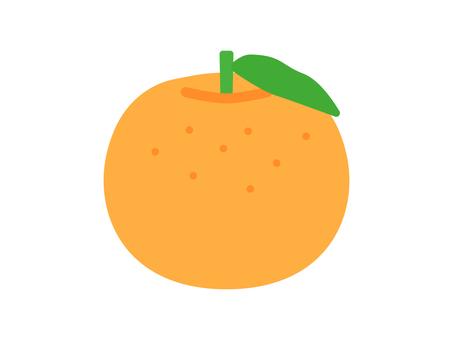 Simple and cute orange illustration