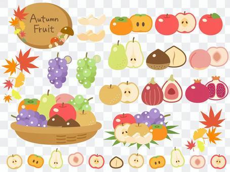 Autumn fruit icon