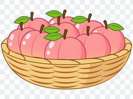 籃子堆桃子