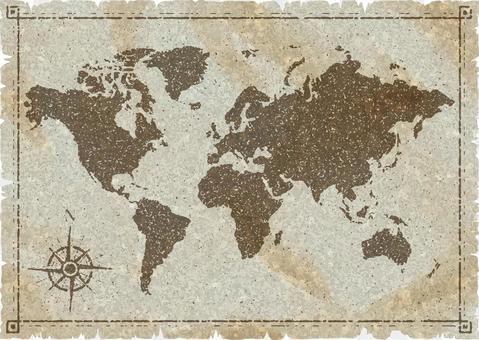 世界地圖舊地圖樣式