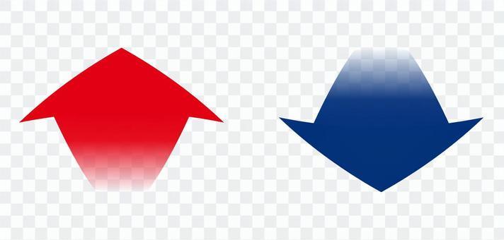 向下箭頭向上紅色藍色向上/向下透明