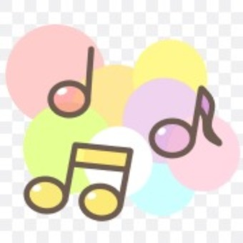 Musical note music rainbow cute pastel