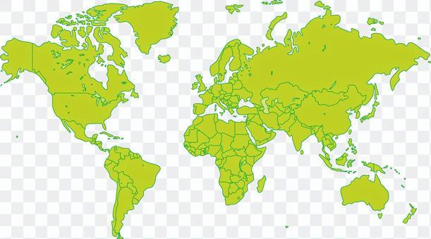 World countries world map map border