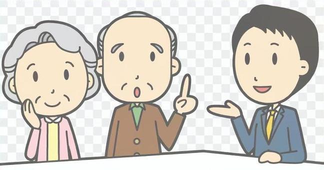 男職員客戶服務老夫婦