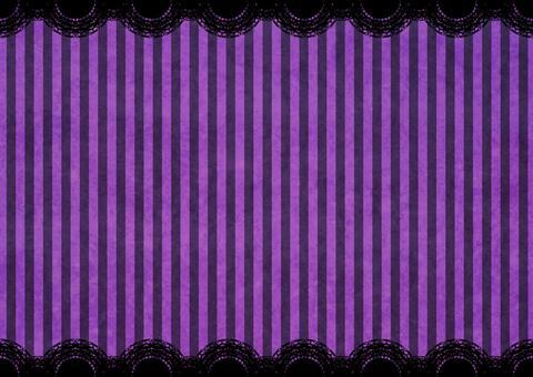 ハロウィンストライプレースの背景 紫