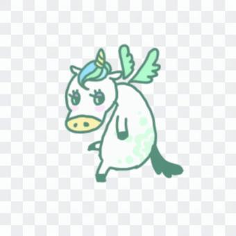 Yume可愛飛行飛行獨角獸