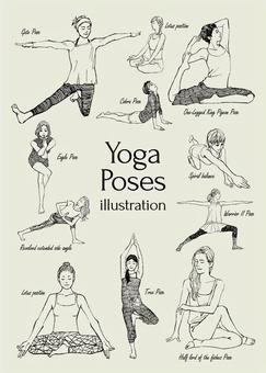 瑜伽姿勢圖